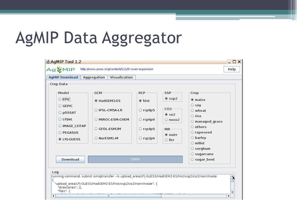 AgMIP Data Aggregator