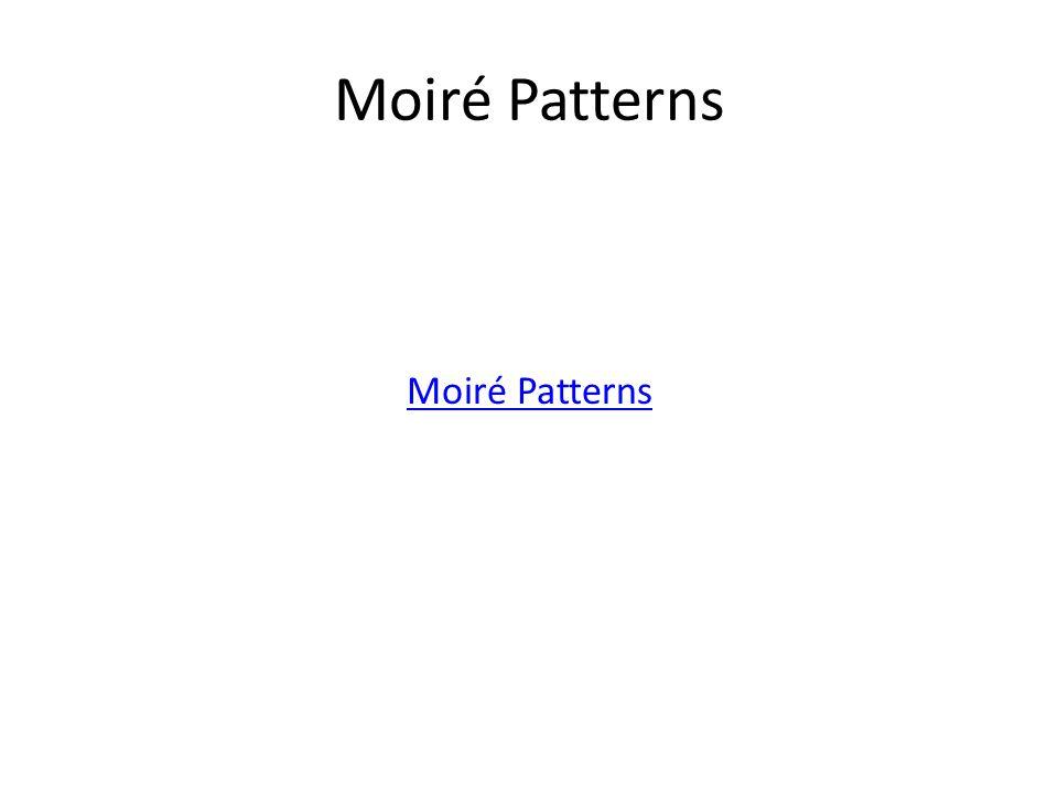 Moiré Patterns