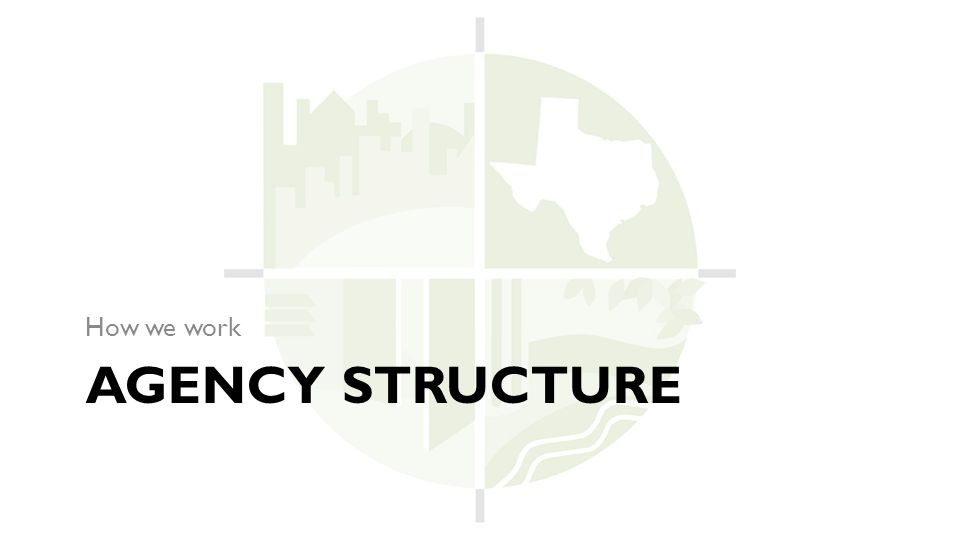 AGENCY STRUCTURE How we work