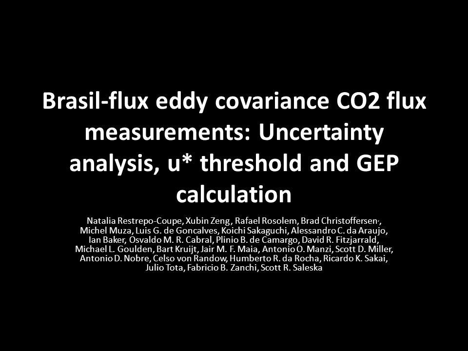 90% of the maximum flux is captured 85% of the maximum flux is captured Bootstrap n=100 Bootstrap n=1000 2) Results u* threshold calculation: Bootsrap LUT (ta, u* and NEE nighttime)
