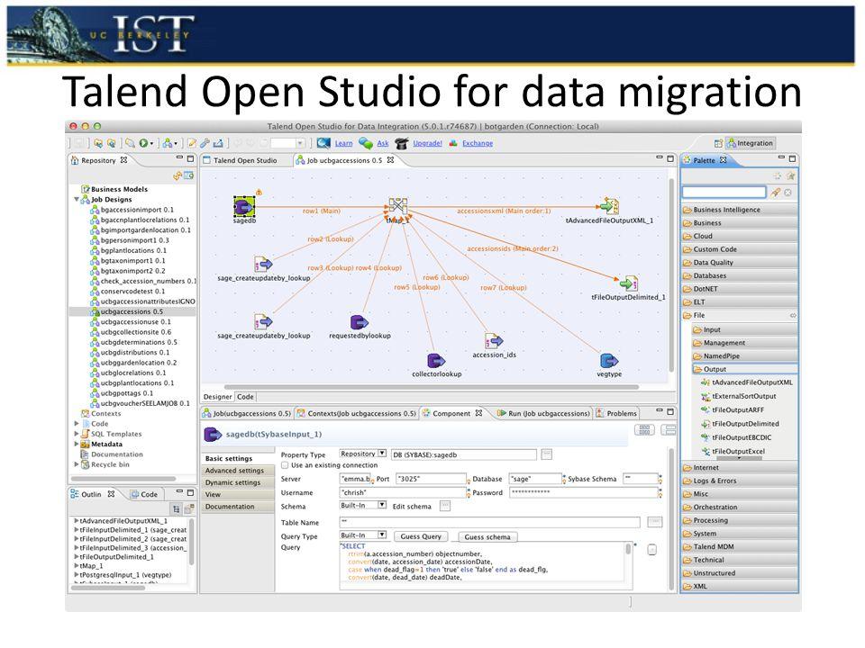 Talend Open Studio for data migration