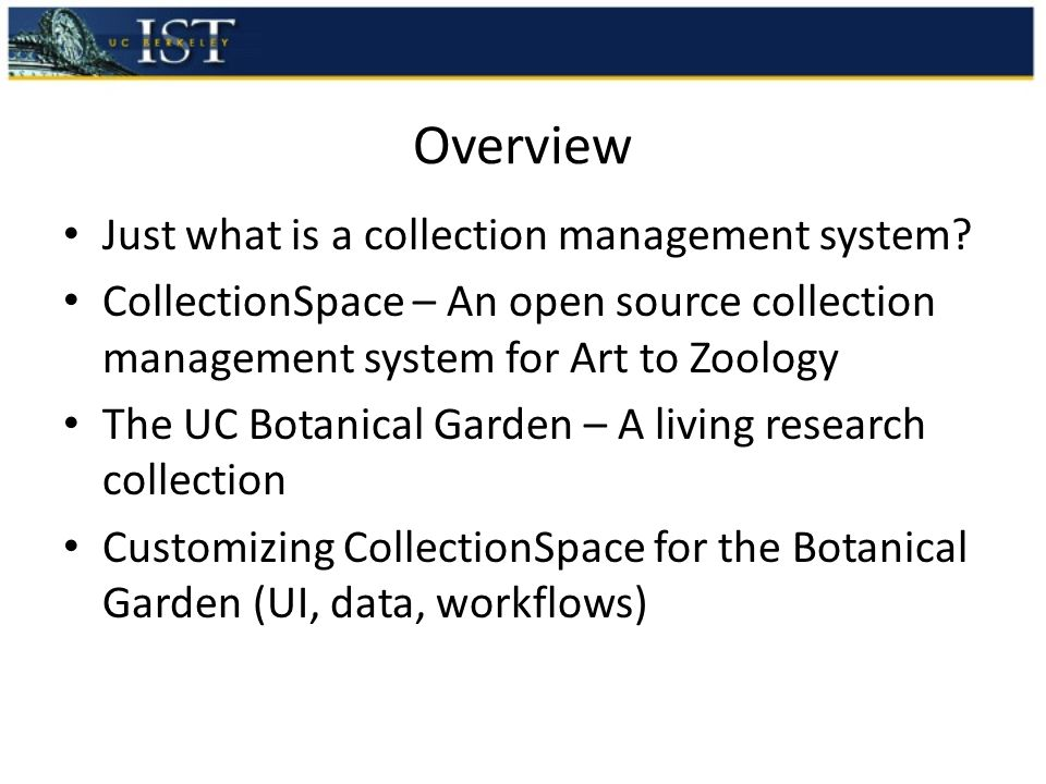 Overview Just what is a collection management system.
