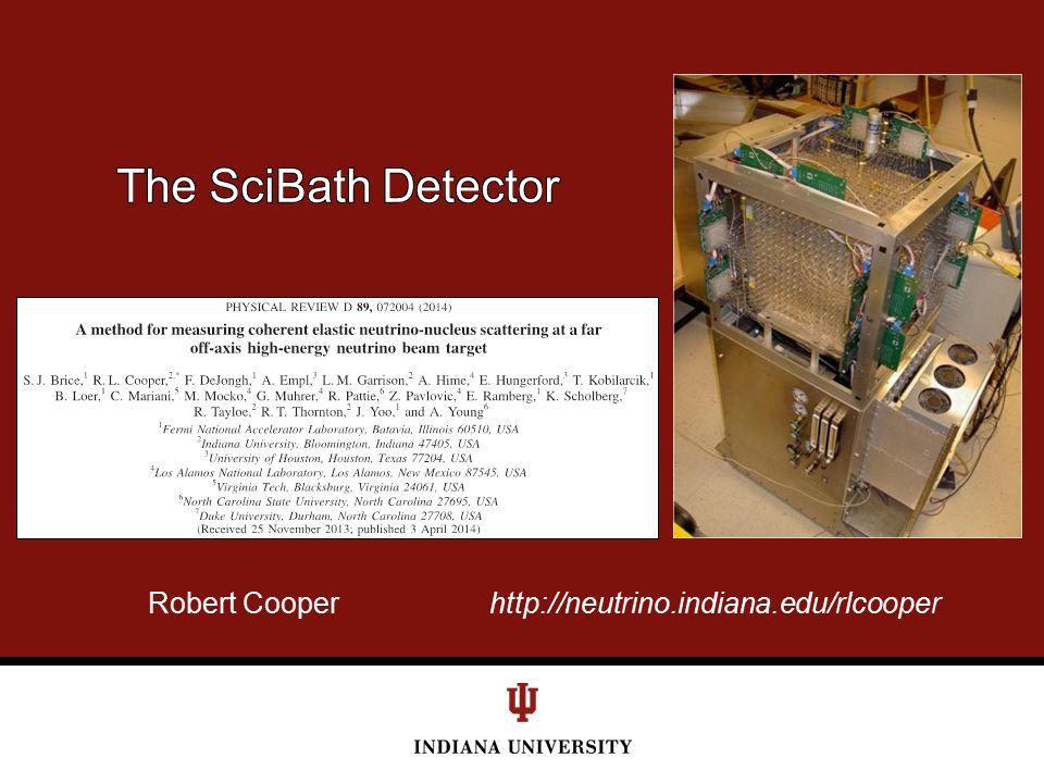 Robert Cooper http://neutrino.indiana.edu/rlcooper