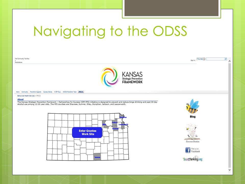 Navigating to the ODSS