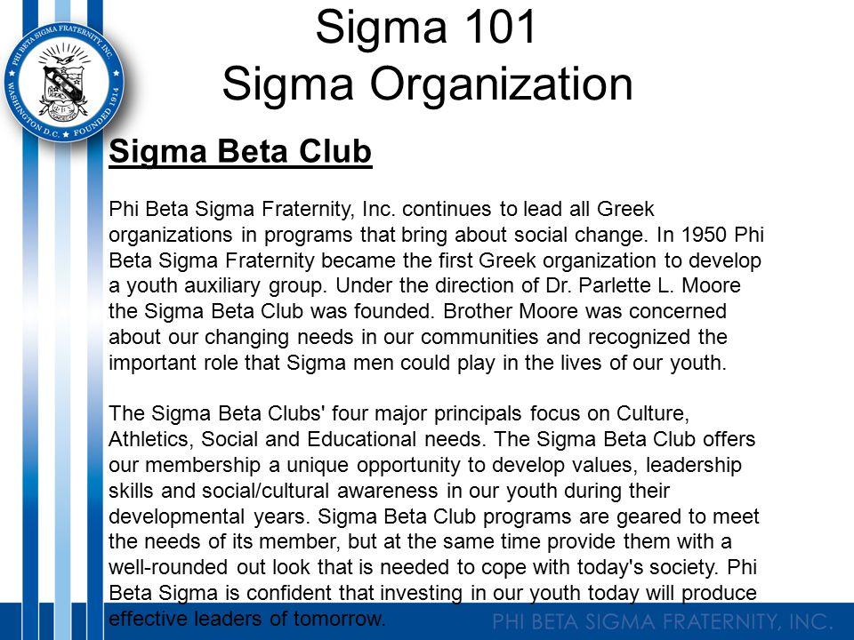 Sigma Beta Club Phi Beta Sigma Fraternity, Inc.