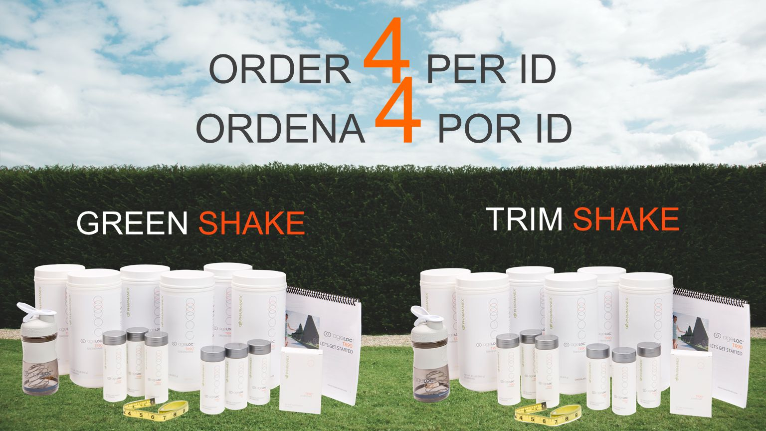 ORDER 4 PER ID GREEN SHAKE TRIM SHAKE ORDENA 4 POR ID