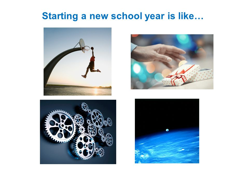 Starting a new school year is like…