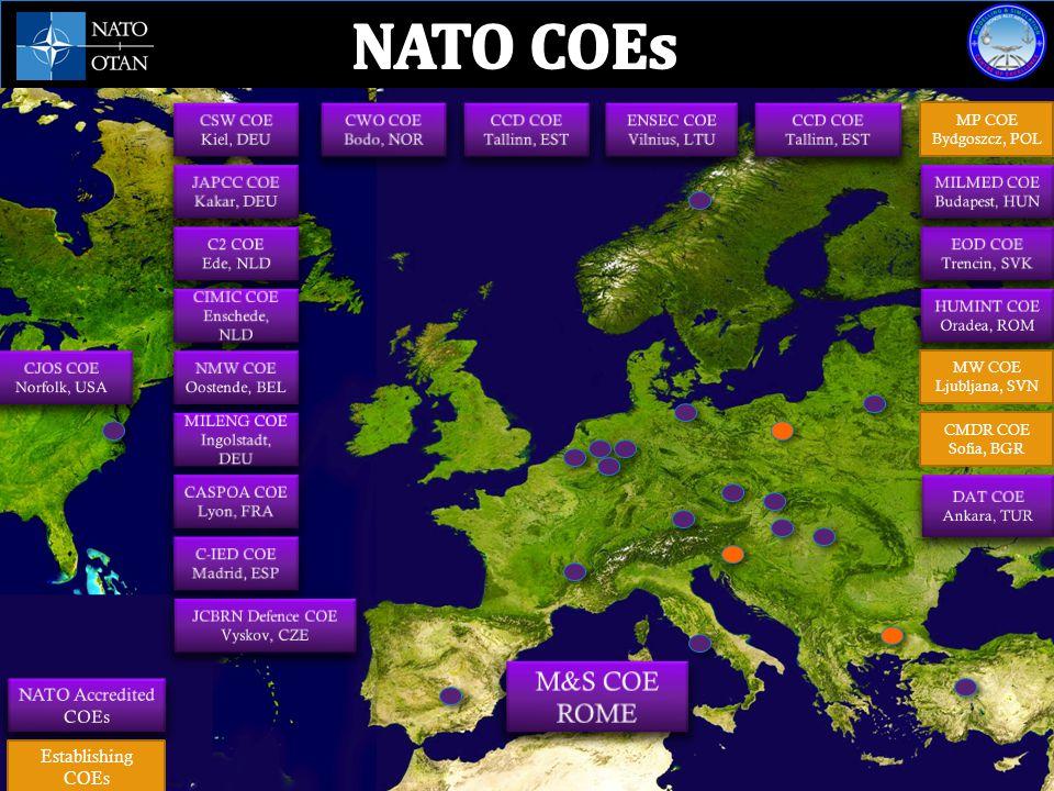 NATO M&S Centre of Excellence - Piazza Villoresi 1, I-00141 ROME It is the 17 th NATO accredited COE