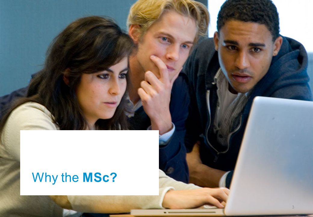 3 Why the MSc?