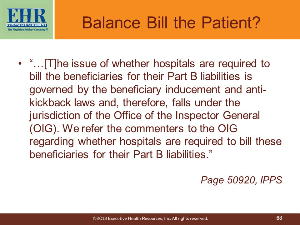 """""""…[T]he issue of whether hospitals are required to bill the beneficiaries for their Part B liabilities is governed by the beneficiary inducement and a"""