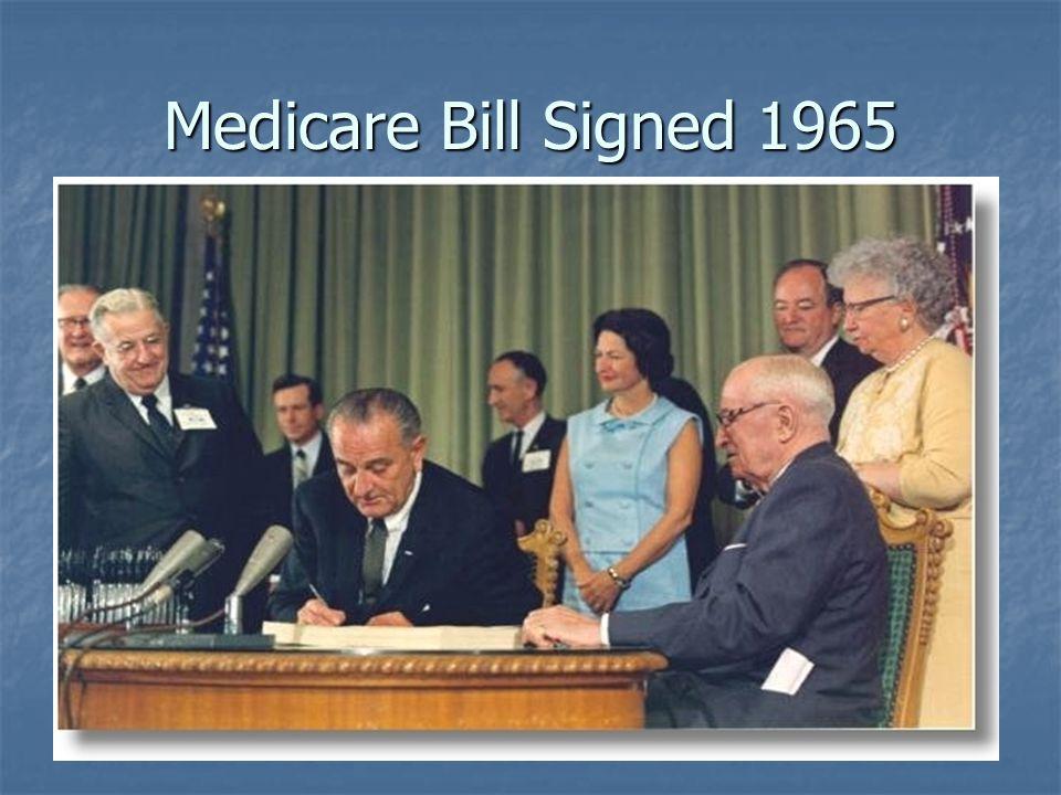 Medicare Bill Signed 1965
