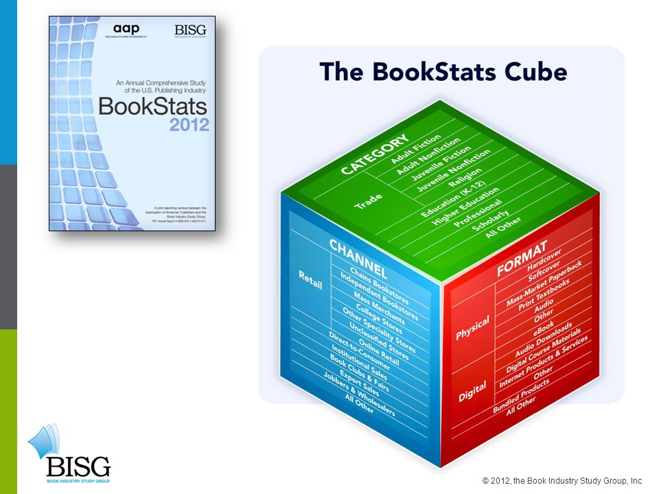 © 2012, the Book Industry Study Group, Inc