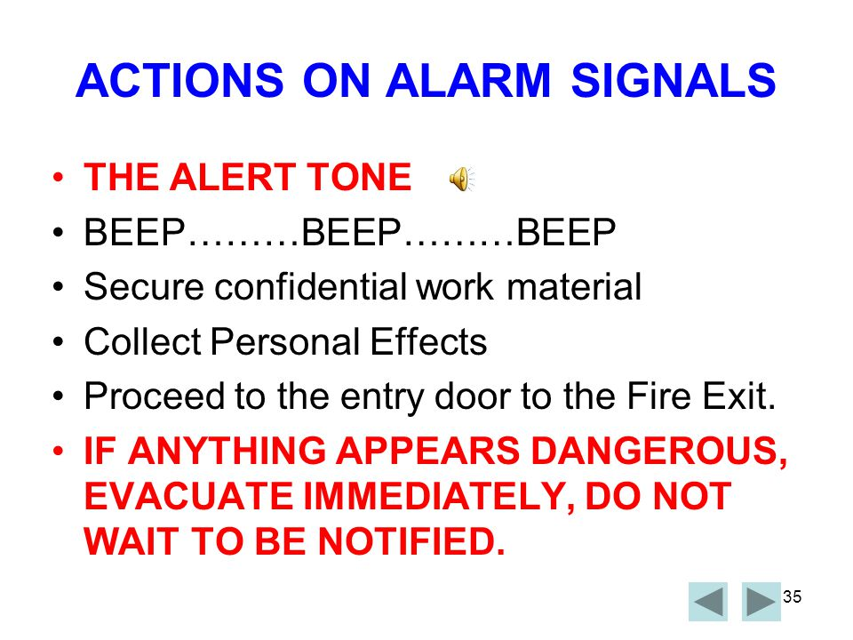 34 ALARM SIGNALS On activation of a smoke alarm, the brown doors located on levels 3,4 and 5, near the entry to tenancy areas will automatically close, to prevent the spread of smoke and fire.