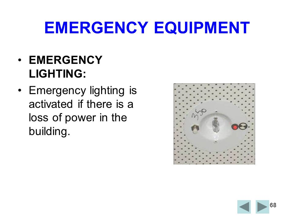 67 EMERGENCY EQUIPMENT VESDA SYSTEM The VESDA system is an early warning system designed to detect smoke.