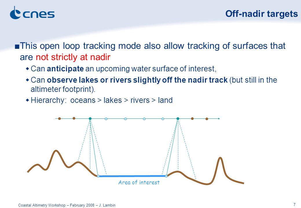 Coastal Altimetry Workshop – February 2008 – J.