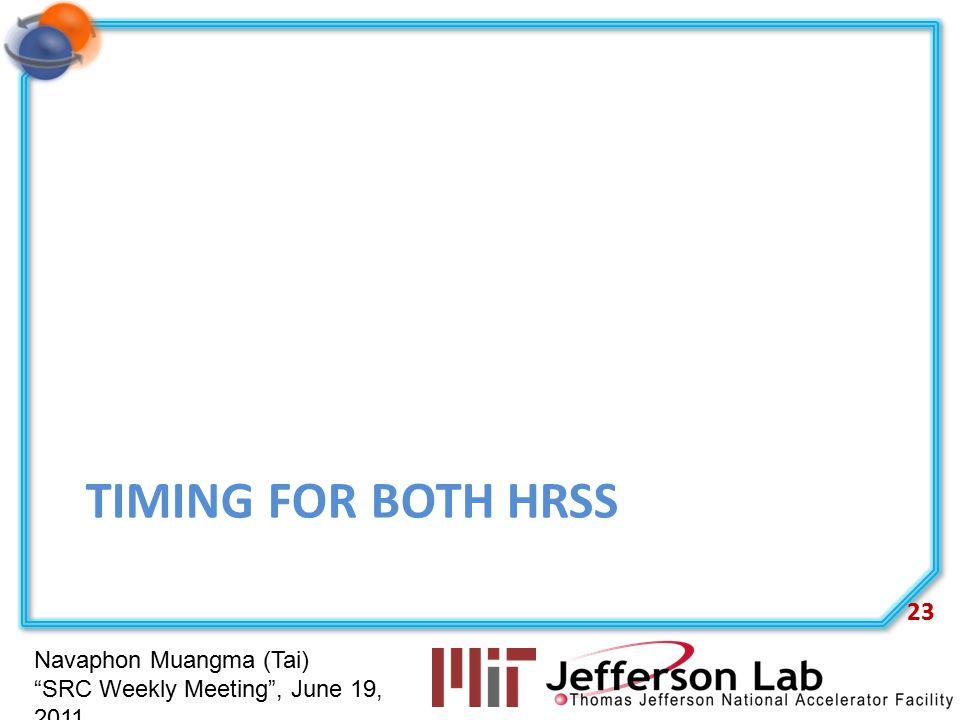 "Navaphon Muangma (Tai) ""SRC Weekly Meeting"", June 19, 2011 TIMING FOR BOTH HRSS 23"