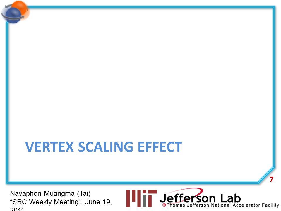 "Navaphon Muangma (Tai) ""SRC Weekly Meeting"", June 19, 2011 VERTEX SCALING EFFECT 7"
