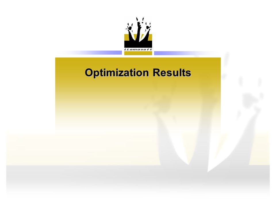 Optimization Results