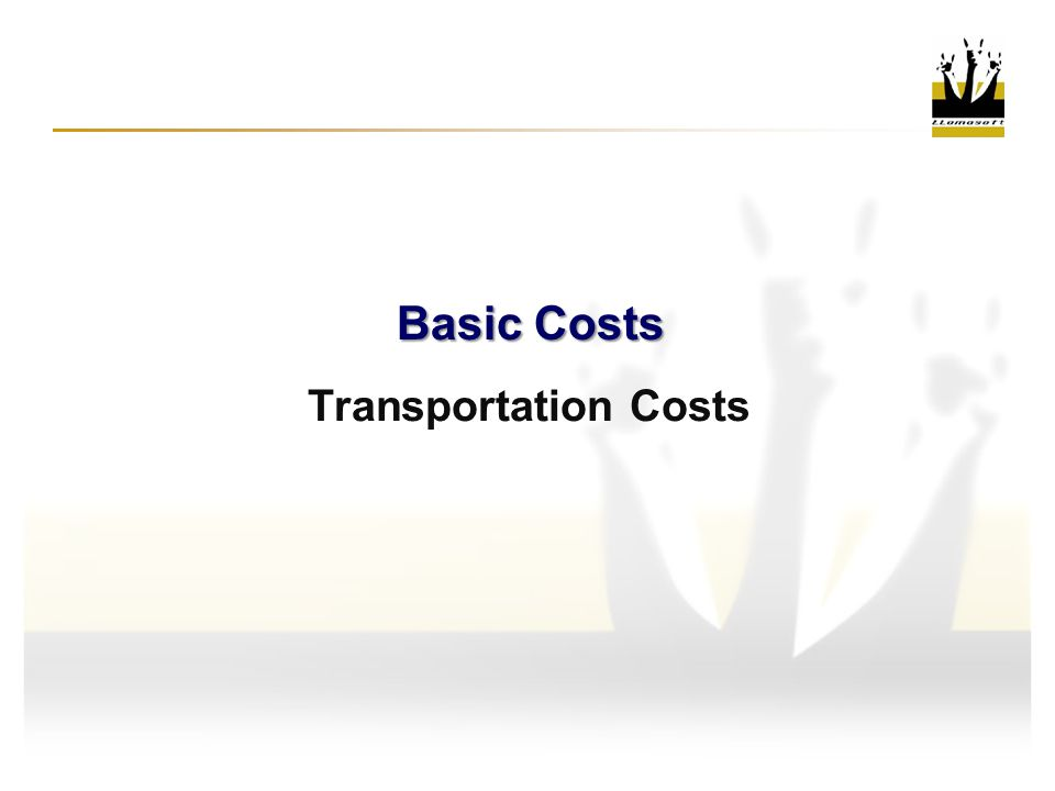 Transportation Costs Basic Costs