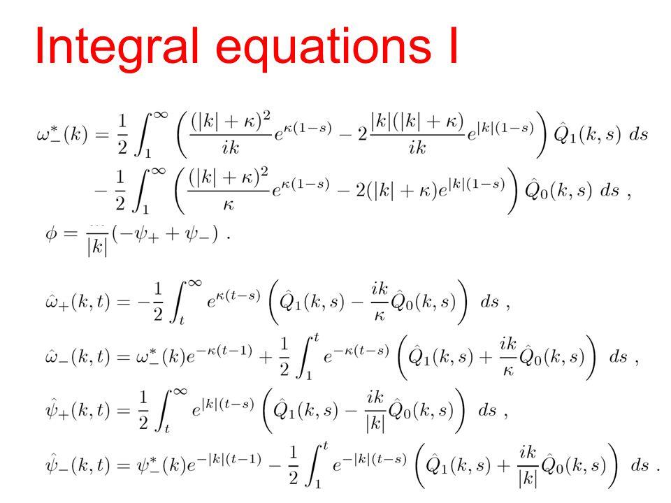 Integral equations I