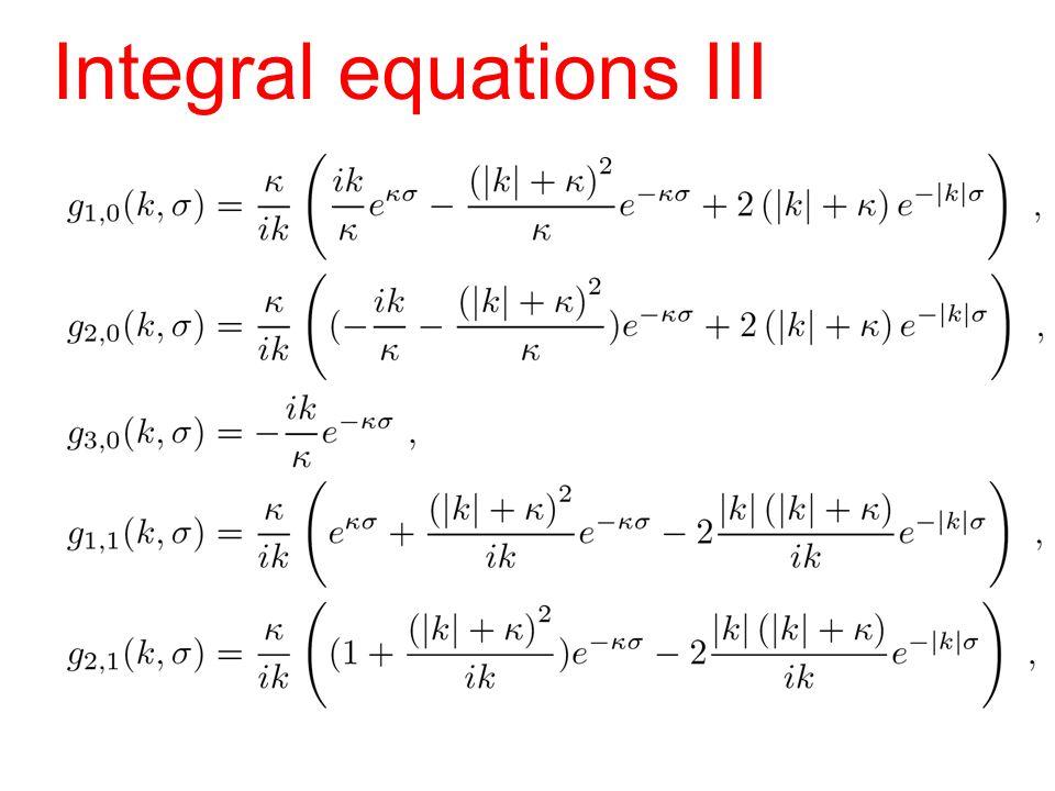 Integral equations III