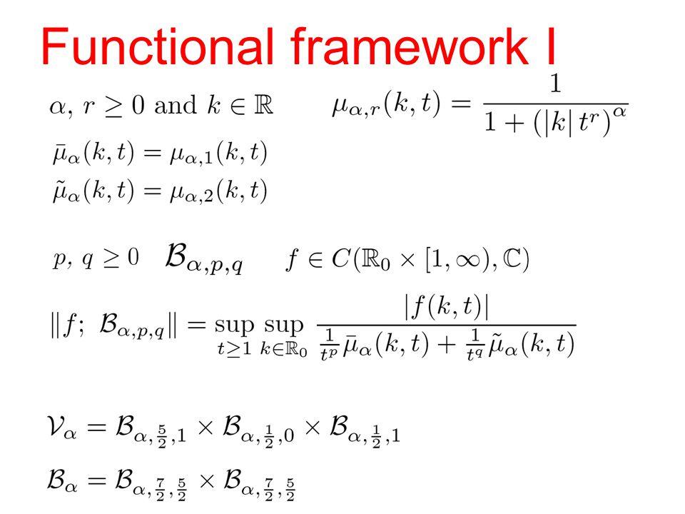 Functional framework I