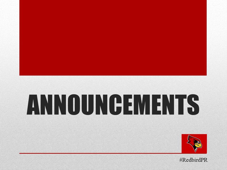 ANNOUNCEMENTS #RedbirdPR