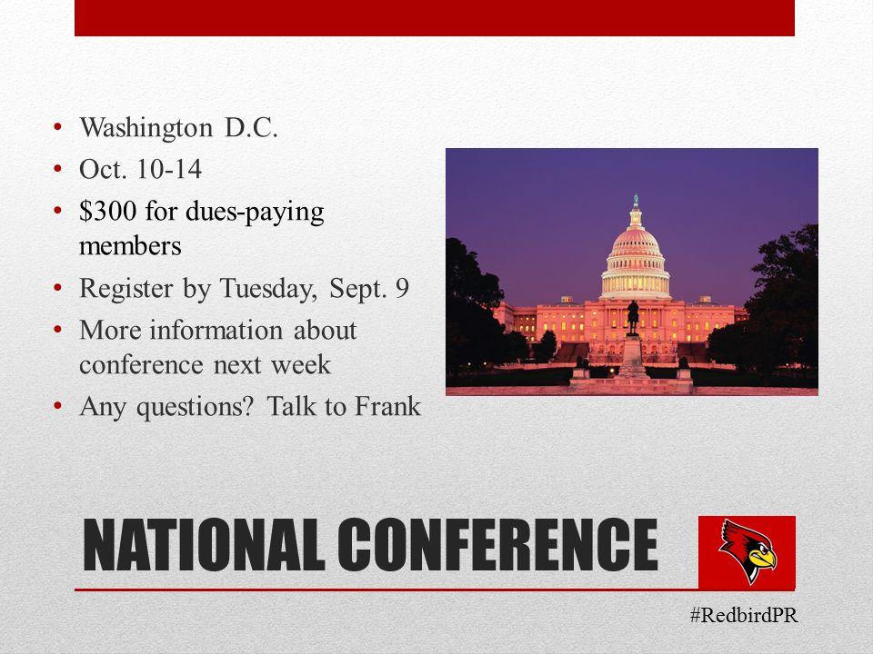 NATIONAL CONFERENCE Washington D.C. Oct.