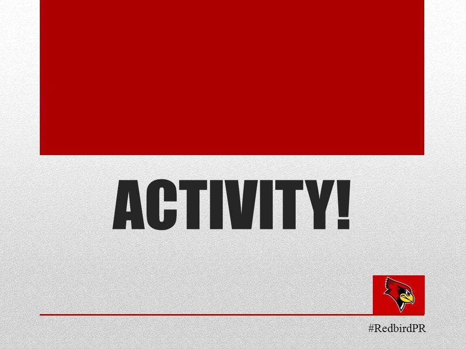 ACTIVITY! #RedbirdPR