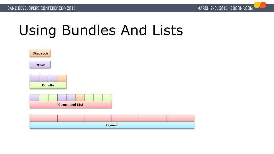 Using Bundles And Lists Draw Dispatch Bundle Command List Frame