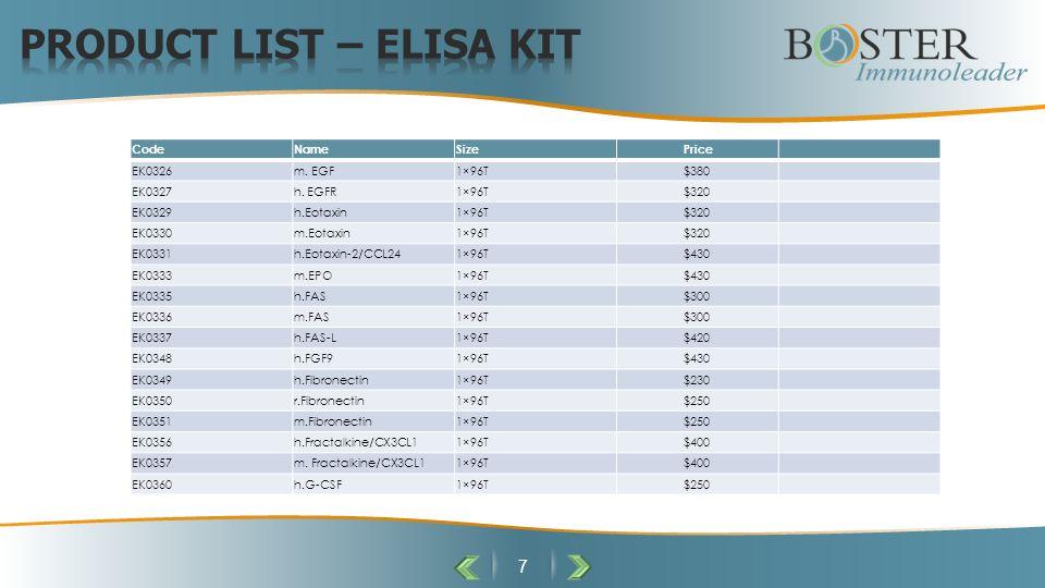 7 CodeNameSizePrice EK0326m. EGF1×96T$380 EK0327h.
