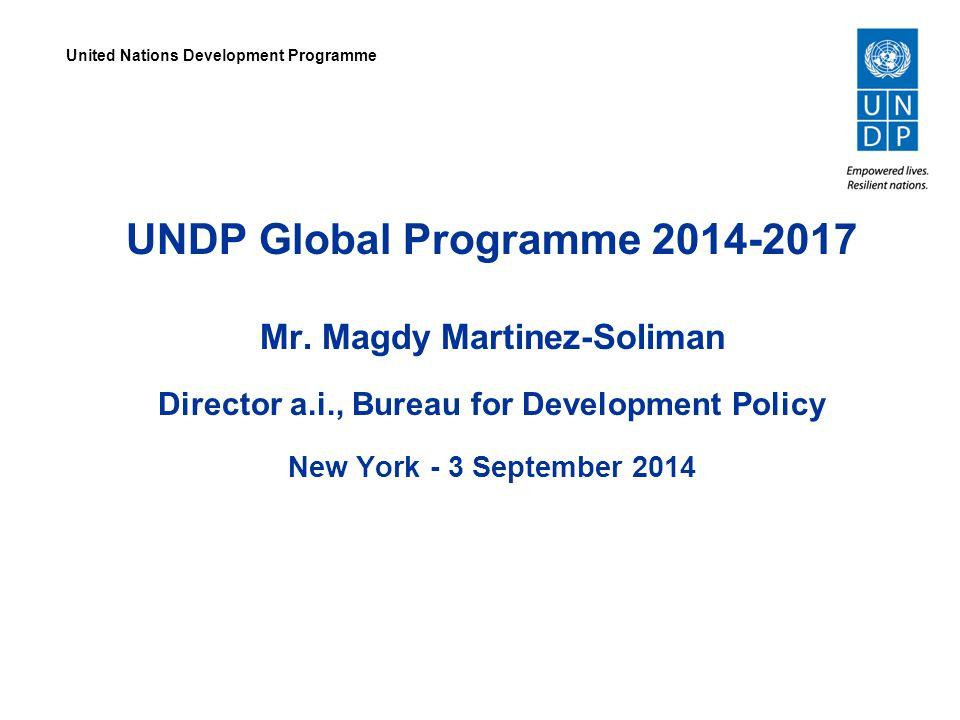 UNDP Global Programme 2014-2017 Mr.