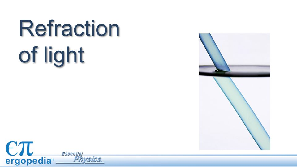 The index of refraction Every light medium has an index of refraction n that determines how much it will refract light.