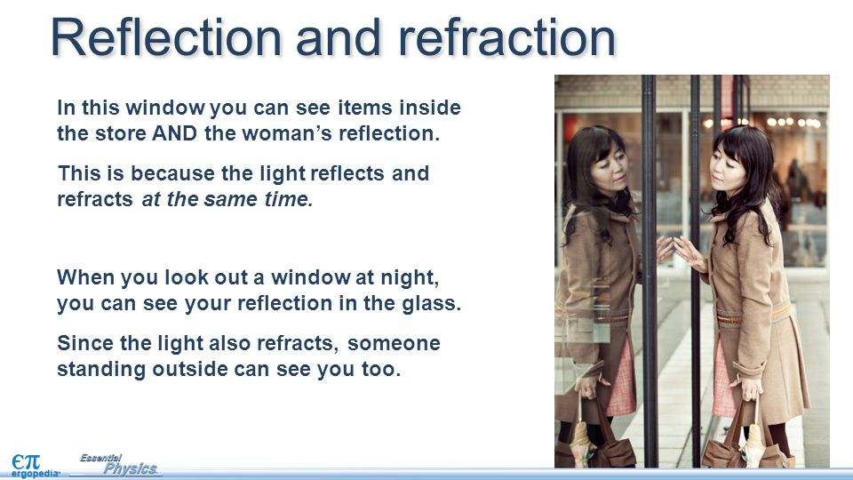 Refraction is a property of all waves.Refraction occurs at a boundary between two materials.