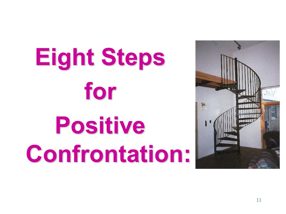 11 Eight Steps for Positive Confrontation: