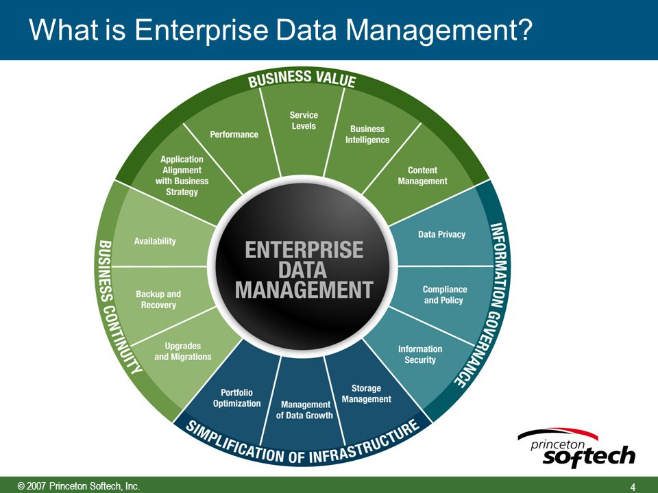 © 2007 Princeton Softech, Inc. 4 What is Enterprise Data Management