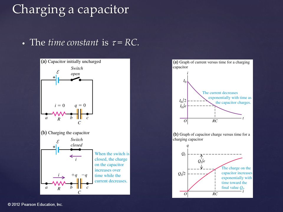 © 2012 Pearson Education, Inc. Discharging a capacitor