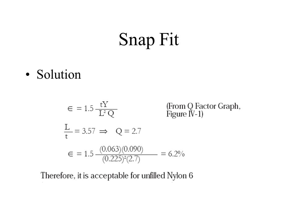Snap Fit Solution