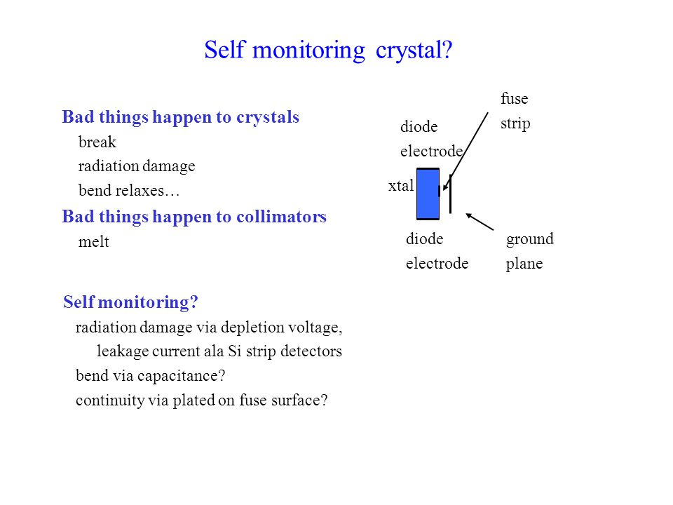 Self monitoring crystal.