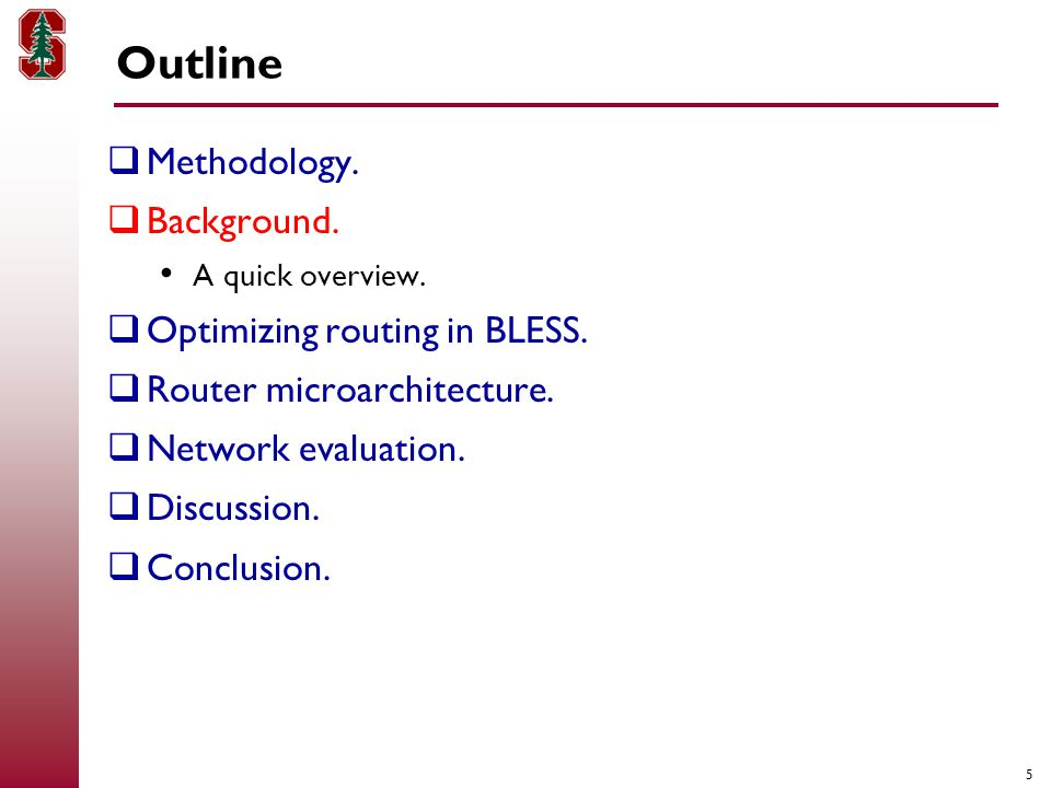 5 Outline  Methodology.  Background. A quick overview.