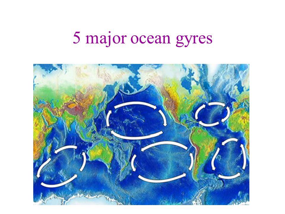 5 major ocean gyres