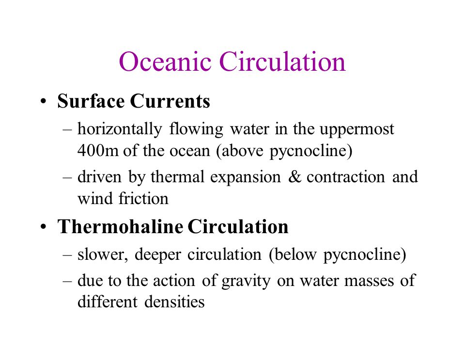Fig 8-2, g Surface Winds, Sun's heat, Coreolis Effect and Gravity = surface current = gyres