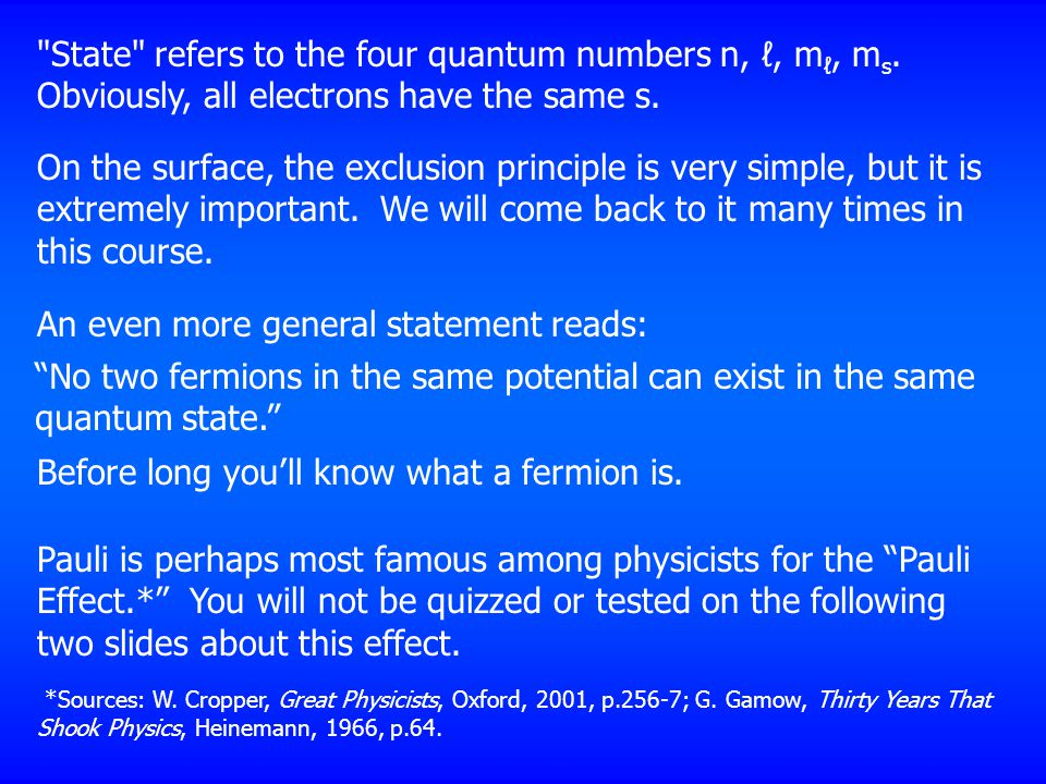 State refers to the four quantum numbers n, ℓ, m ℓ, m s.