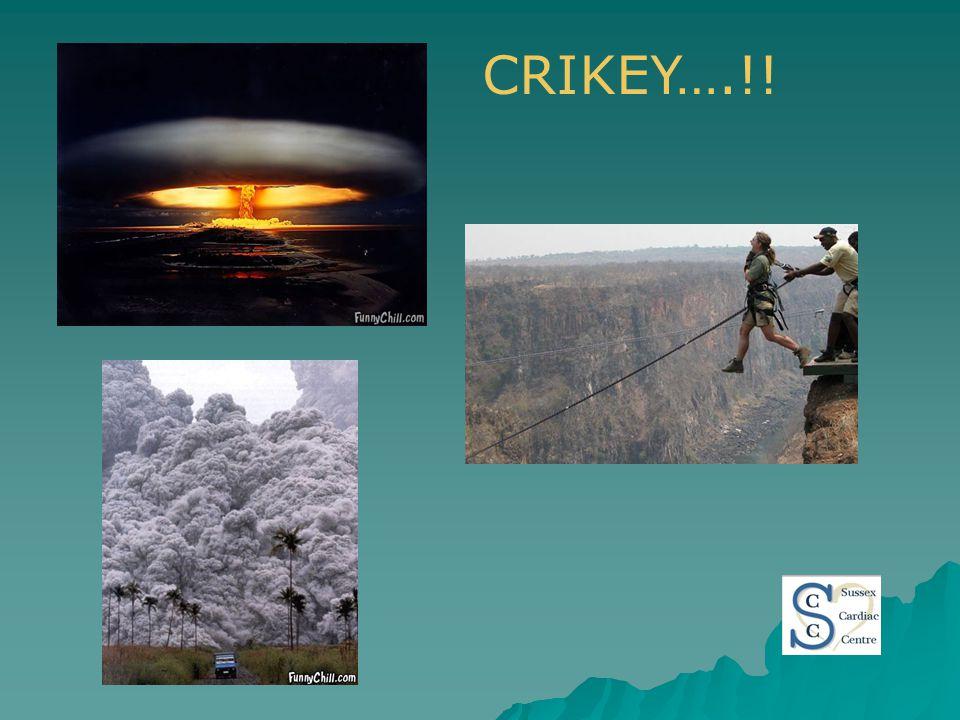 CRIKEY….!!