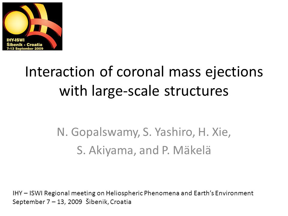 Interaction of coronal mass ejections with large-scale structures N.