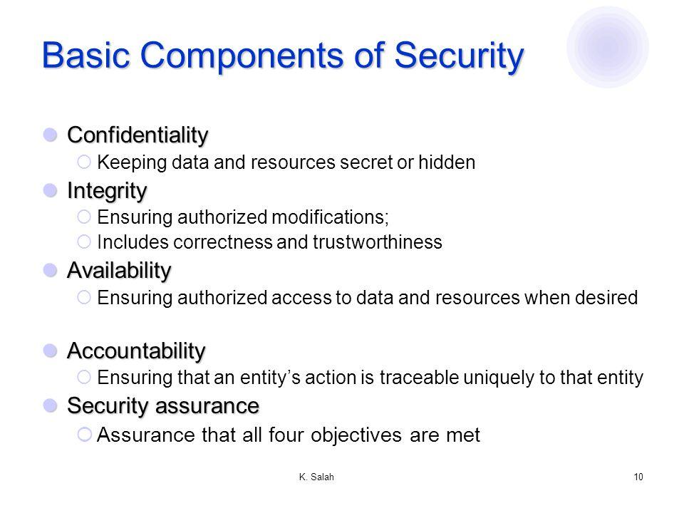 K. Salah9 What is Security.