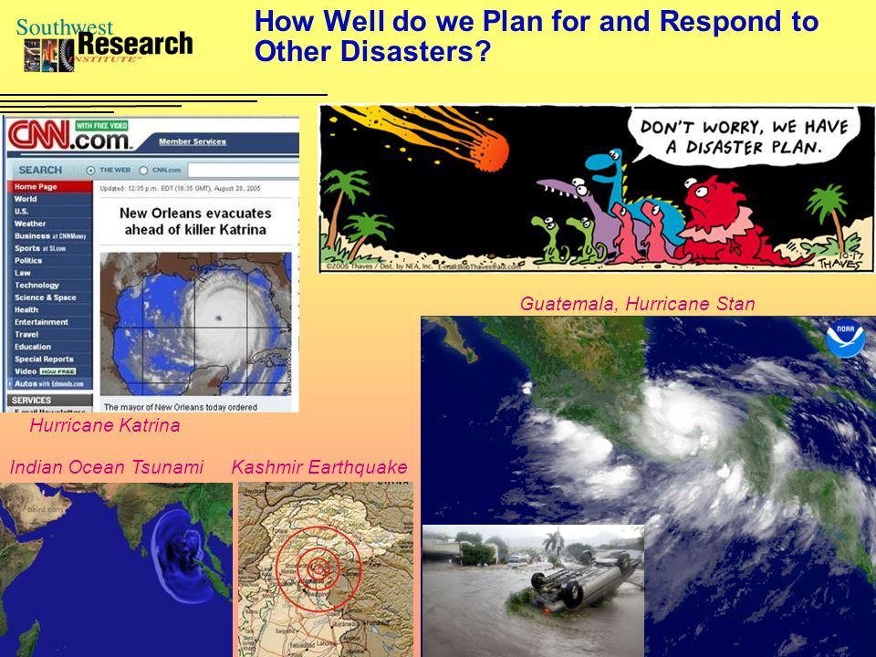 How Well do we Plan for and Respond to Other Disasters.