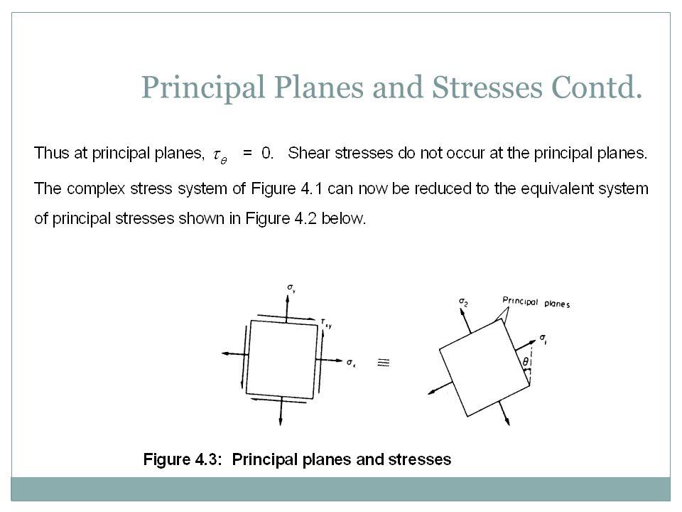 Principal Planes and Stresses Contd.