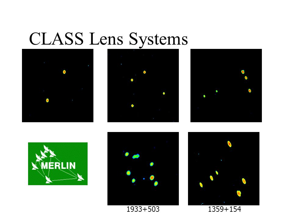 CLASS Lens Systems 1600+4341608+4342045+265 1933+5031359+154