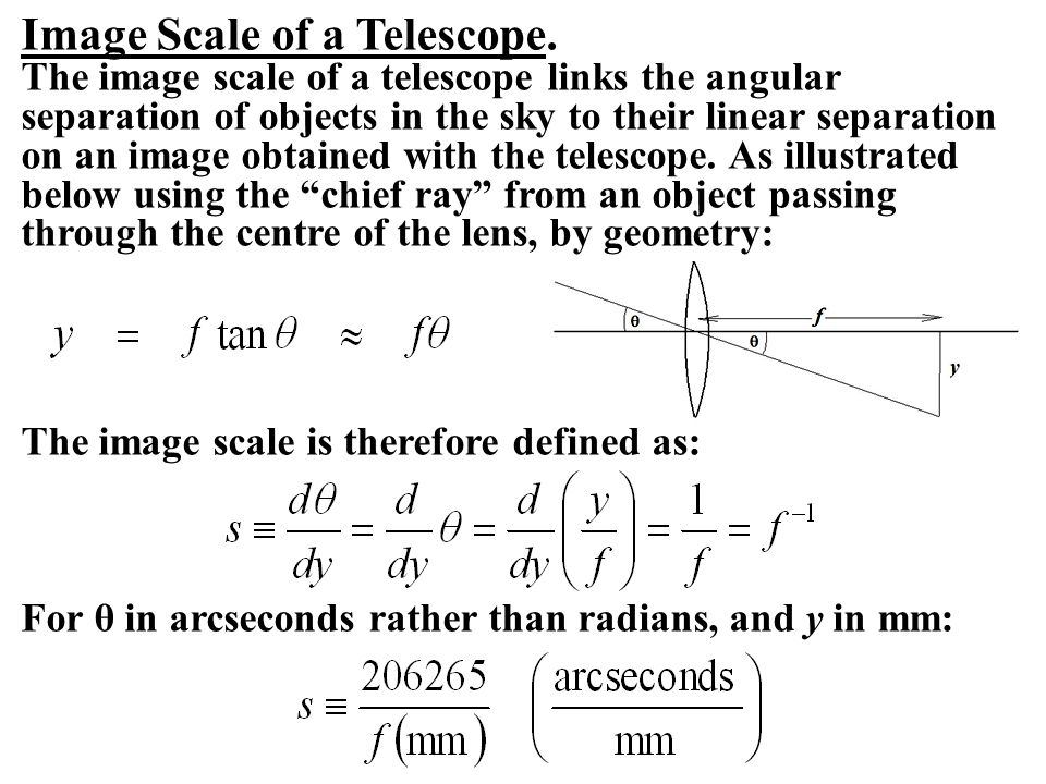 Image Scale of a Telescope.